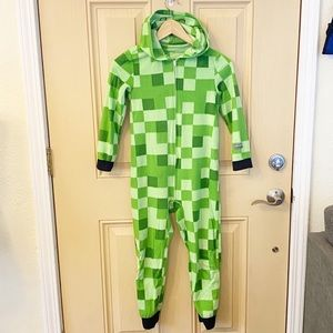 Boys Minecraft Fleece Hooded Jammies